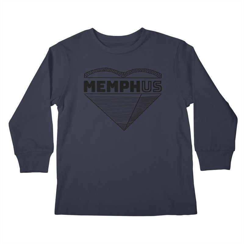 MemphUS Kids Longsleeve T-Shirt by pigtopia's Artist Shop