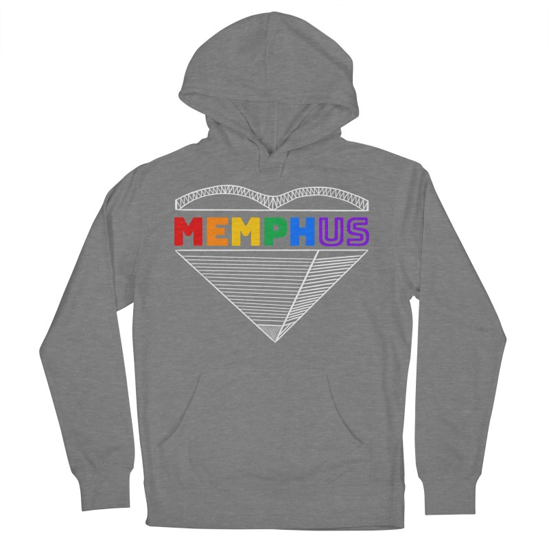 MemphUS Rainbow Men's French Terry Pullover Hoody by pigtopia's Artist Shop