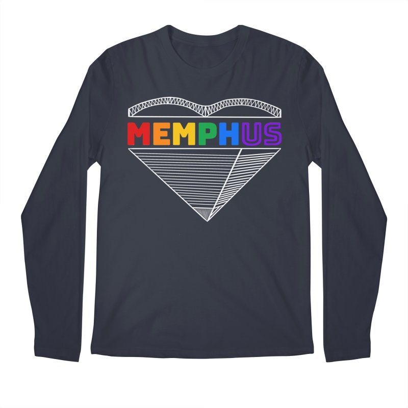 MemphUS Rainbow Men's Regular Longsleeve T-Shirt by pigtopia's Artist Shop
