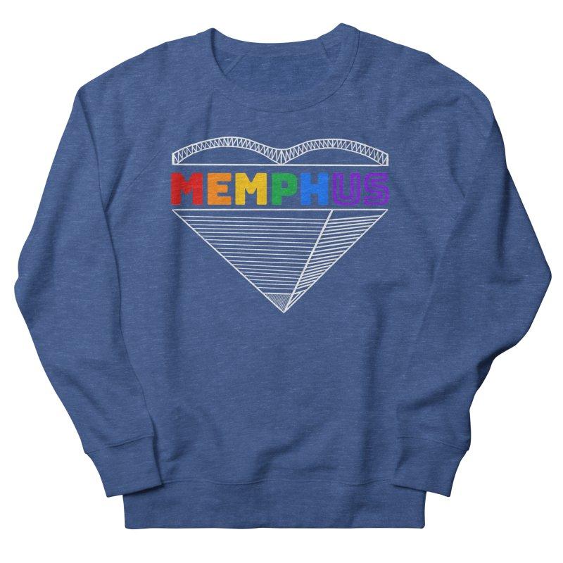 MemphUS Rainbow Men's French Terry Sweatshirt by pigtopia's Artist Shop