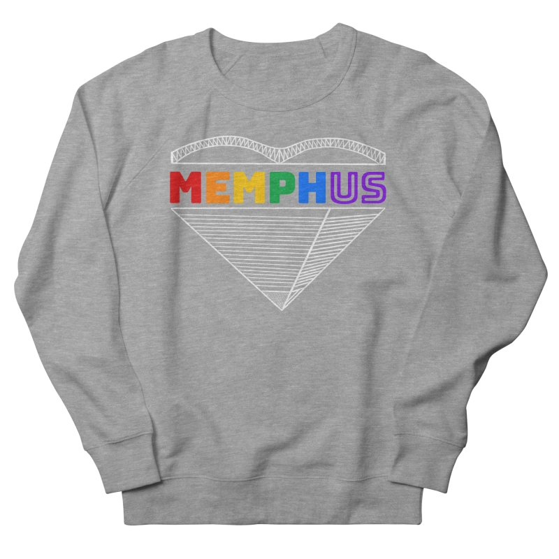 MemphUS Rainbow Men's French Terry Sweatshirt by pigtopia's Artist Shop