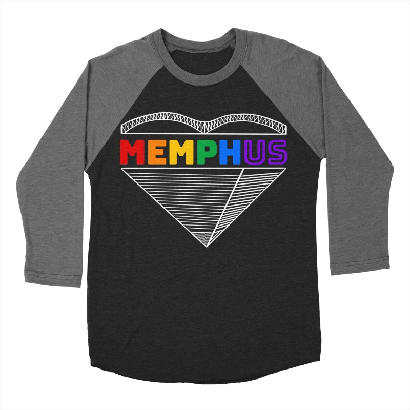 MemphUS Rainbow Women's Baseball Triblend Longsleeve T-Shirt by pigtopia's Artist Shop