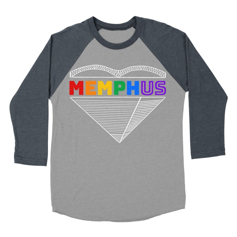 MemphUS Rainbow Men's Baseball Triblend Longsleeve T-Shirt by pigtopia's Artist Shop