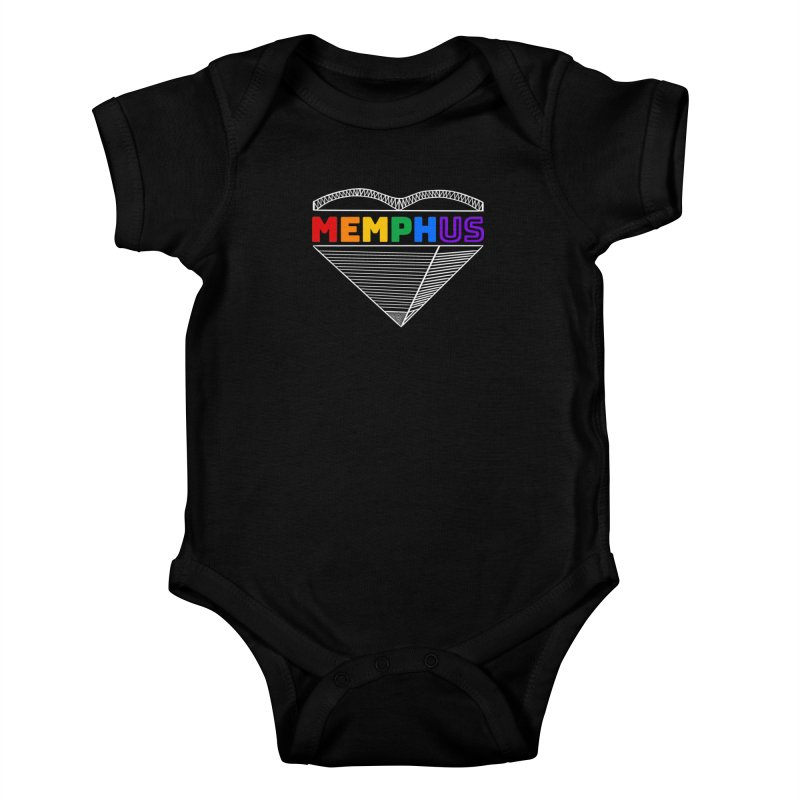 MemphUS Rainbow Kids Baby Bodysuit by pigtopia's Artist Shop