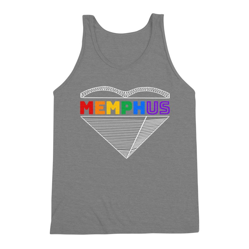MemphUS Rainbow Men's Triblend Tank by pigtopia's Artist Shop
