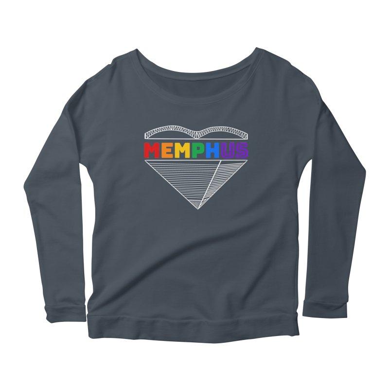 MemphUS Rainbow Women's Scoop Neck Longsleeve T-Shirt by pigtopia's Artist Shop