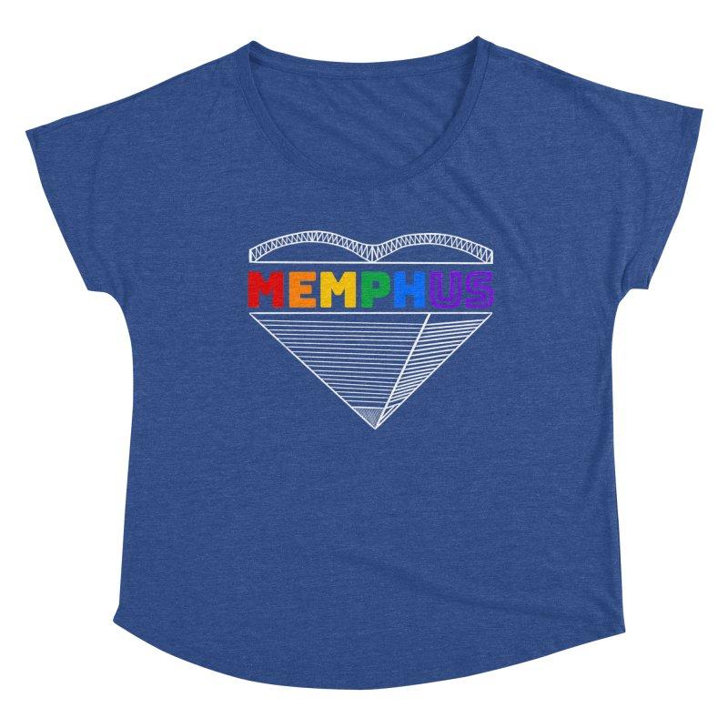 MemphUS Rainbow Women's Dolman Scoop Neck by pigtopia's Artist Shop