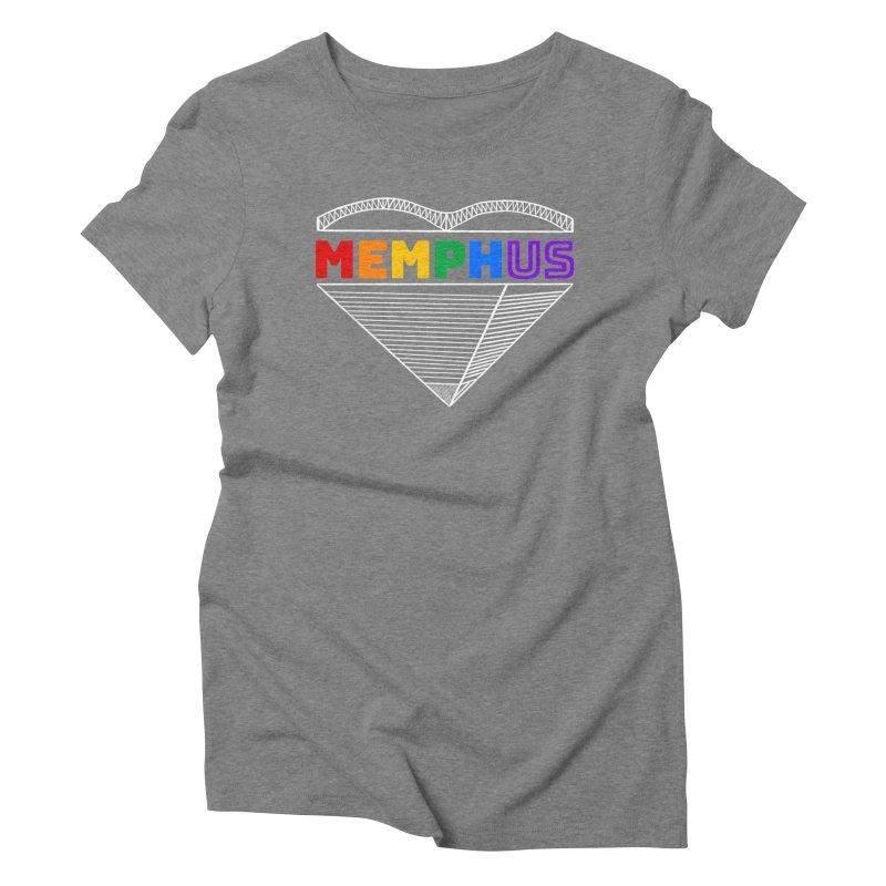 MemphUS Rainbow Women's Triblend T-Shirt by pigtopia's Artist Shop