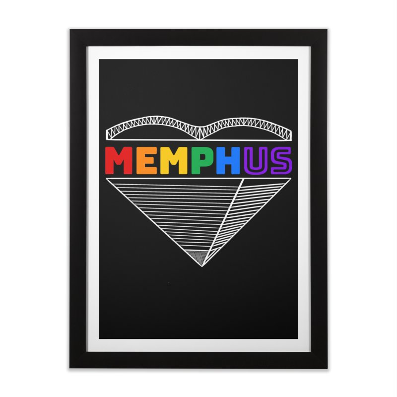 MemphUS Rainbow Home Framed Fine Art Print by pigtopia's Artist Shop