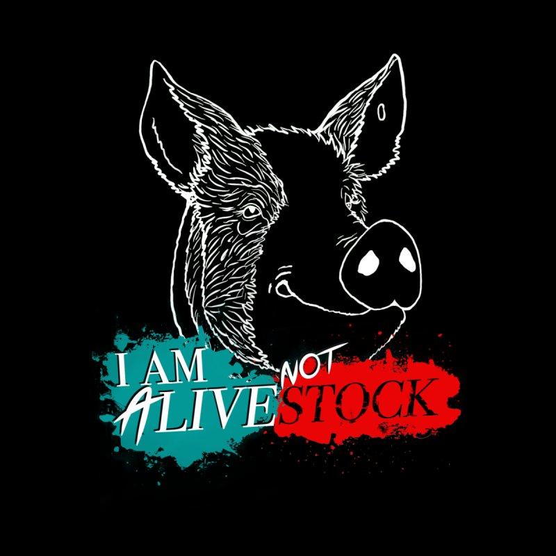 I am ALIVE not LIVESTOCK Men's T-Shirt by pigtopia's Artist Shop