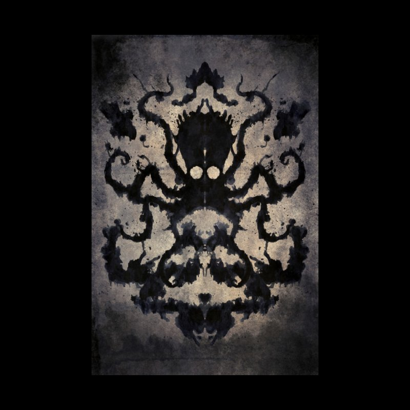 Rorschach octopus Home Stretched Canvas by Pijaczaj