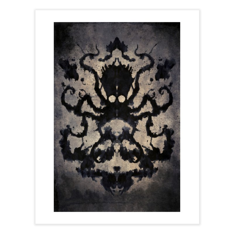 Rorschach octopus Home Fine Art Print by Pijaczaj