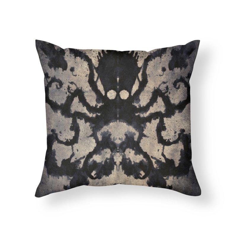 Rorschach octopus Home Throw Pillow by Pijaczaj