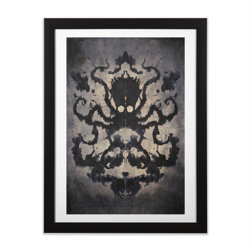 Rorschach octopus Home Framed Fine Art Print by Pijaczaj