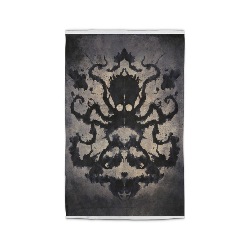 Rorschach octopus Home Rug by Pijaczaj