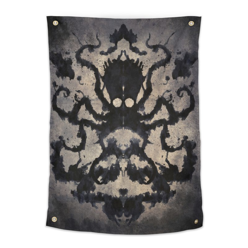 Rorschach octopus Home Tapestry by Pijaczaj