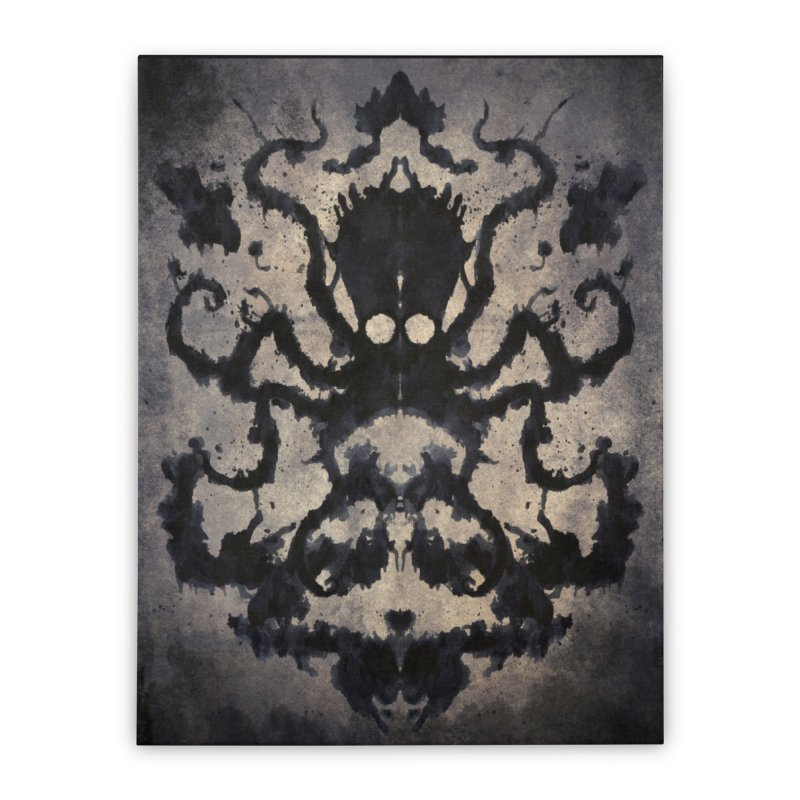 Rorschach octopus in Stretched Canvas by Pijaczaj