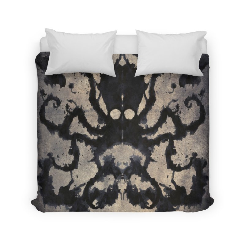 Rorschach octopus Home Duvet by Pijaczaj