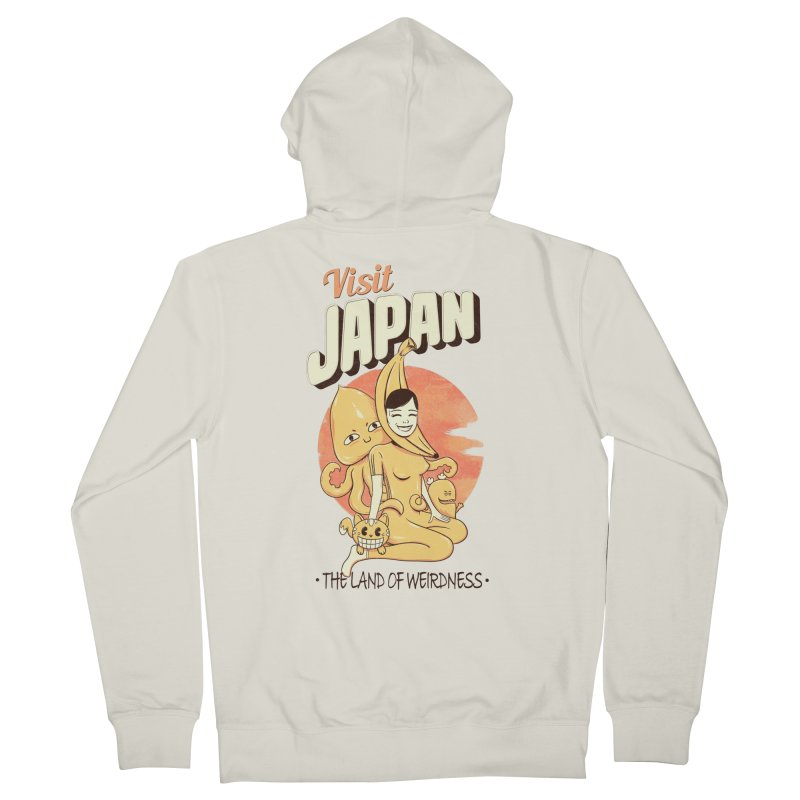 Visit Japan Men's Zip-Up Hoody by Pijaczaj