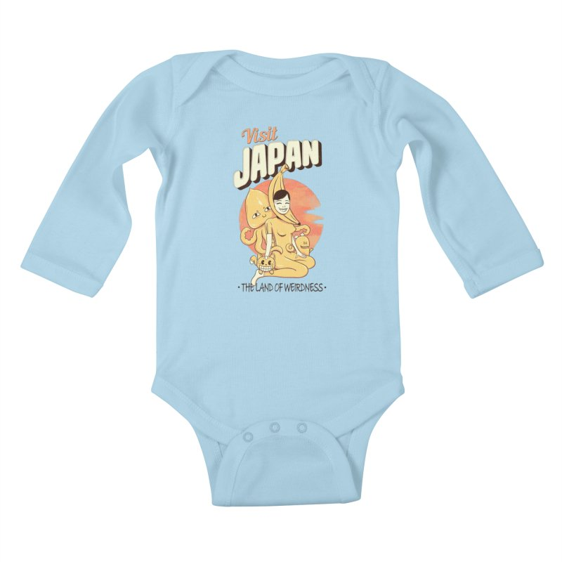 Visit Japan Kids Baby Longsleeve Bodysuit by Pijaczaj