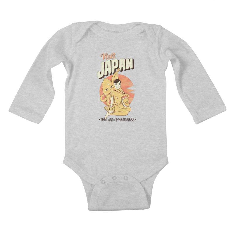 Visit Japan Kids Baby Longsleeve Bodysuit by Pijaczaj