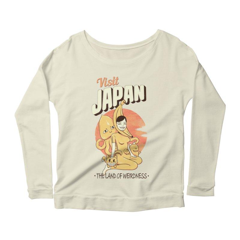 Visit Japan Women's Longsleeve Scoopneck  by Pijaczaj