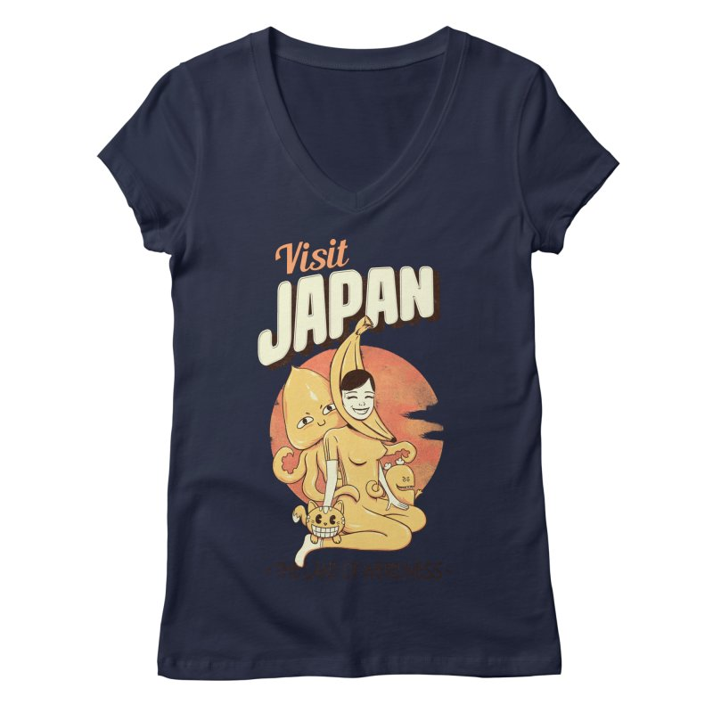 Visit Japan Women's V-Neck by Pijaczaj