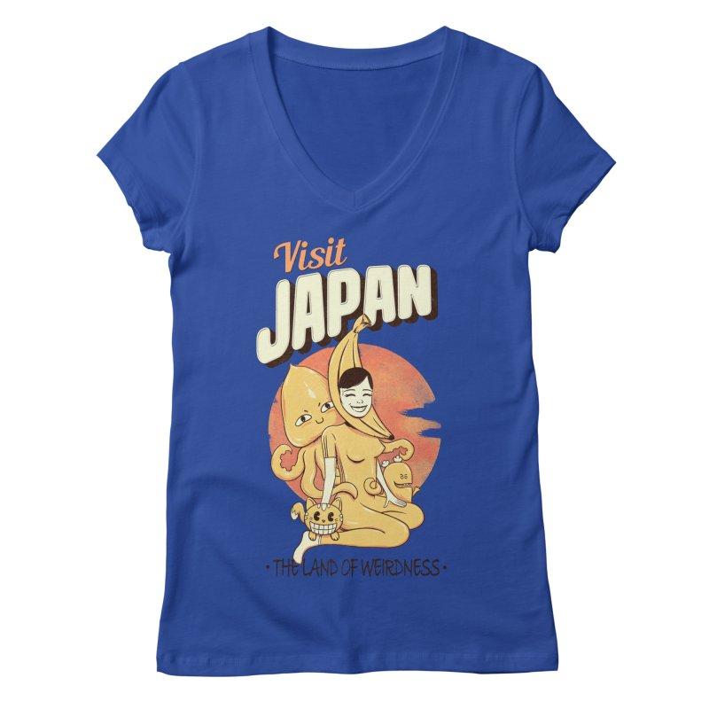 Visit Japan Women's V-Neck by Pijaczaj