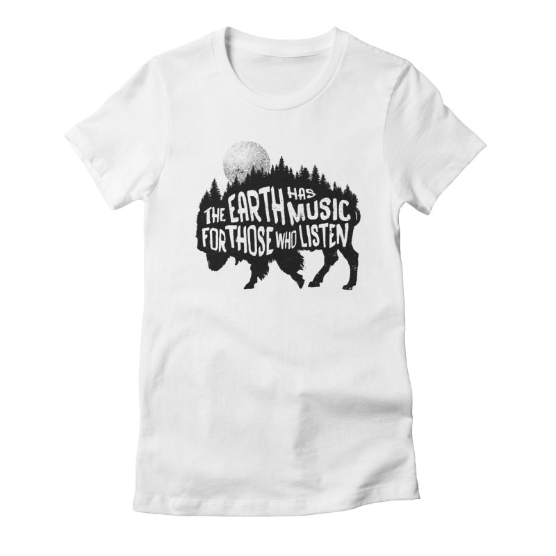 The music of nature Women's Fitted T-Shirt by Pijaczaj