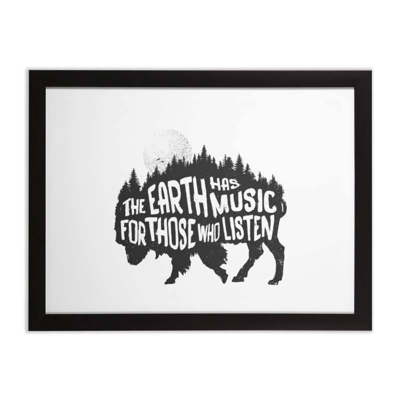 The music of nature Home Framed Fine Art Print by Pijaczaj