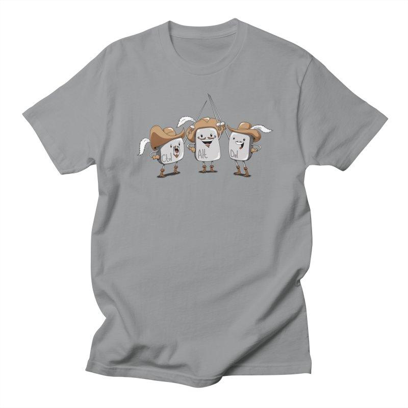 The Three Mus-key-teers Men's T-shirt by Pijaczaj