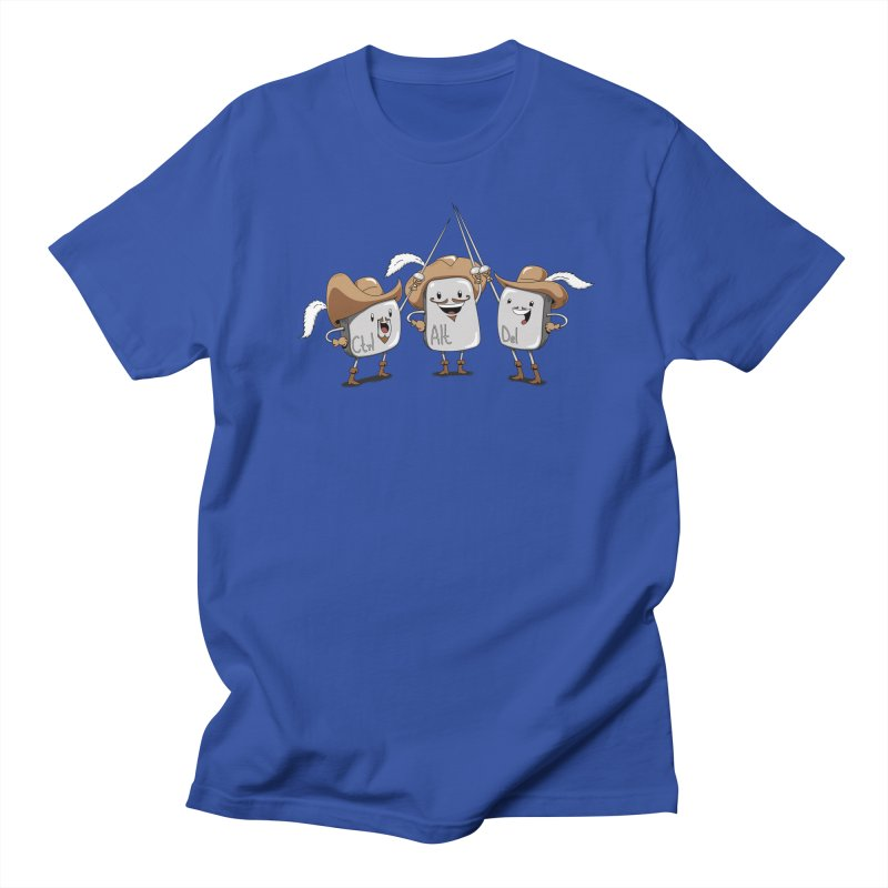 The Three Mus-key-teers Men's T-shirt by Pijaczaj