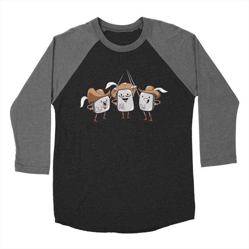 The Three Mus-key-teers Women's Baseball Triblend T-Shirt by Pijaczaj