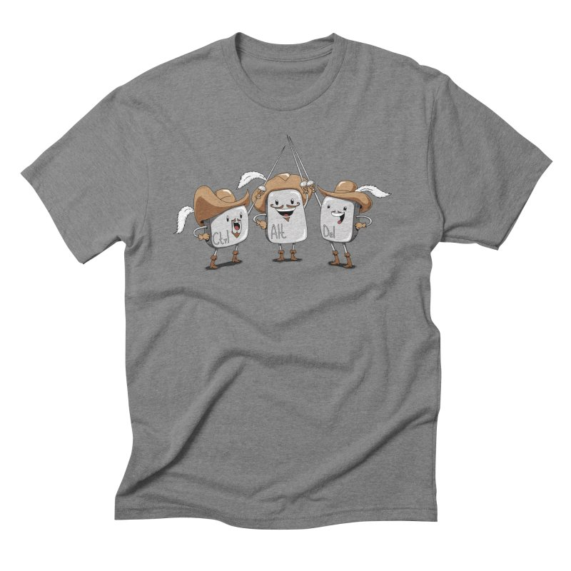The Three Mus-key-teers Men's Triblend T-shirt by Pijaczaj