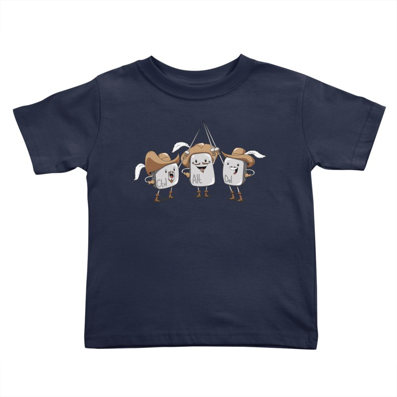 The Three Mus-key-teers Kids Toddler T-Shirt by Pijaczaj