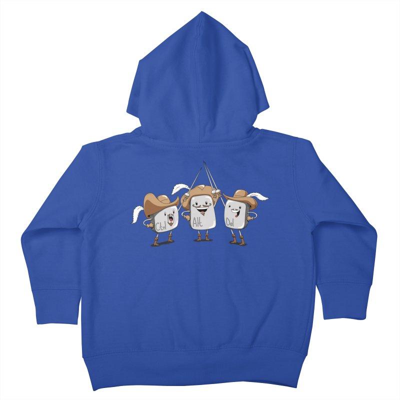 The Three Mus-key-teers Kids Toddler Zip-Up Hoody by Pijaczaj