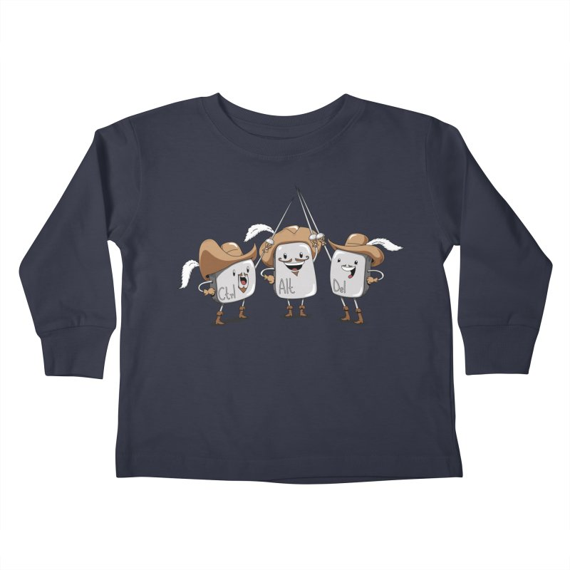 The Three Mus-key-teers Kids Toddler Longsleeve T-Shirt by Pijaczaj