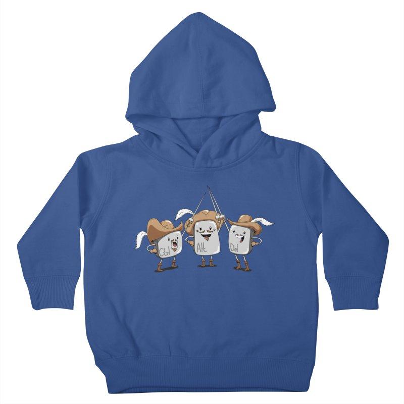 The Three Mus-key-teers Kids Toddler Pullover Hoody by Pijaczaj