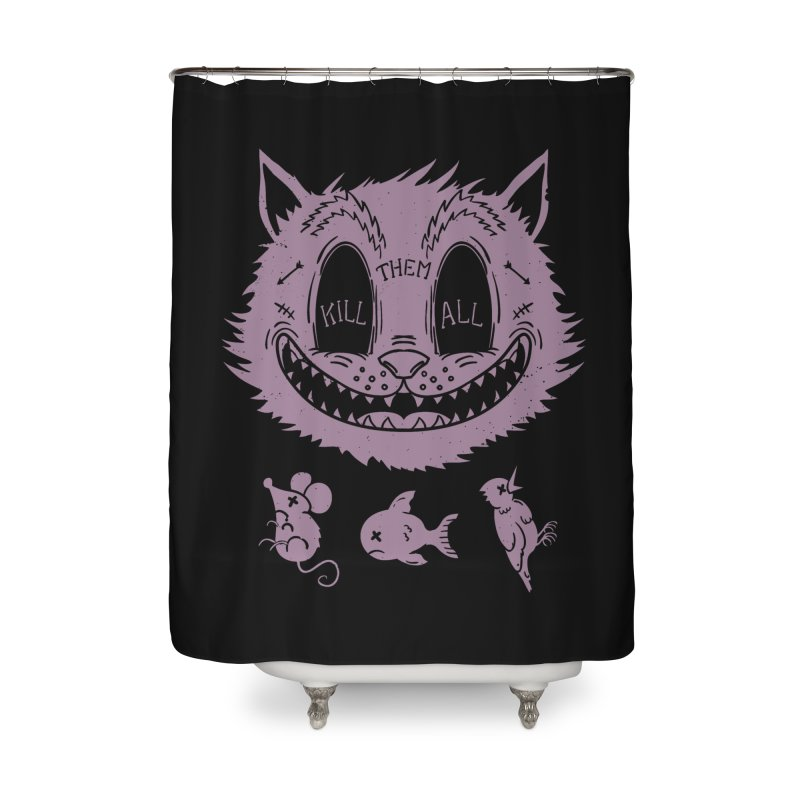 Kill Them All v.2 Home Shower Curtain by Pijaczaj
