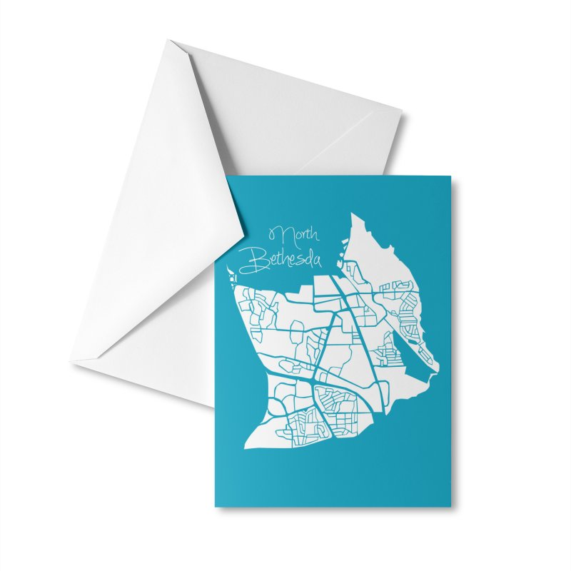 North Bethesda Map Accessories Greeting Card by @pike.and.rozay