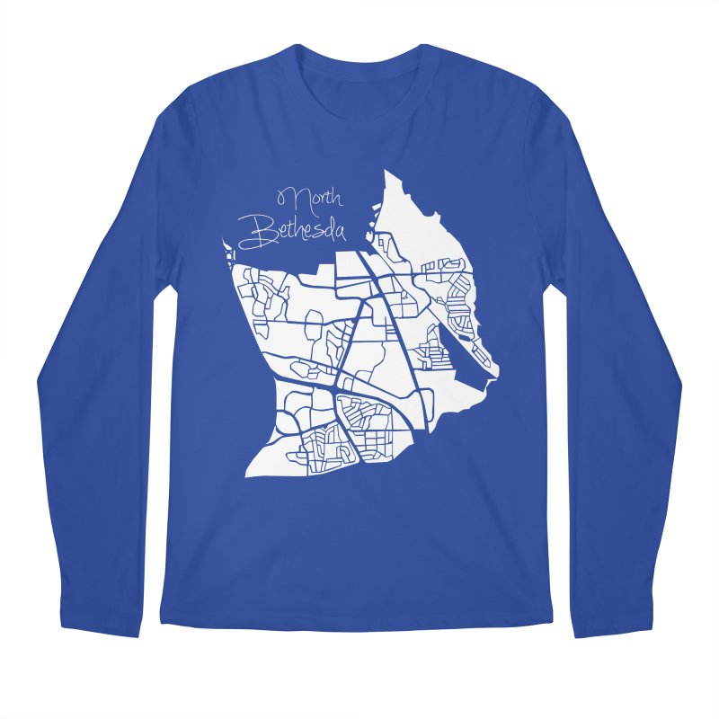 North Bethesda Map Men's Longsleeve T-Shirt by @pike.and.rozay