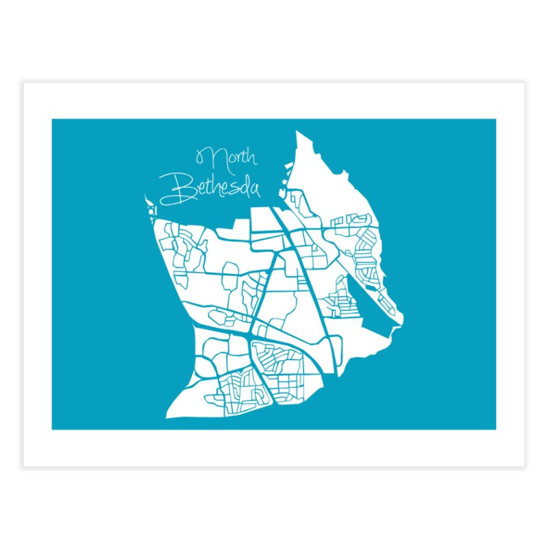 North Bethesda Map Home Fine Art Print by @pike.and.rozay