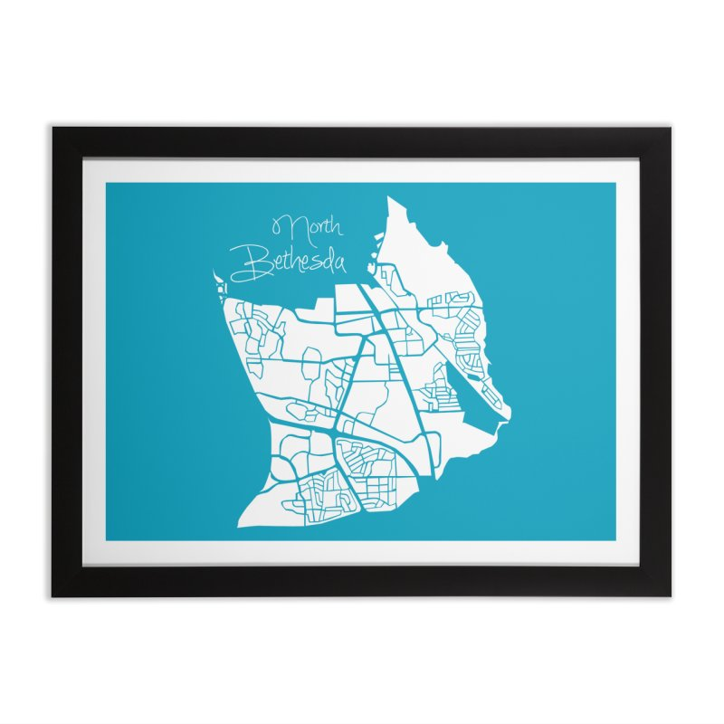 North Bethesda Map Home Framed Fine Art Print by @pike.and.rozay