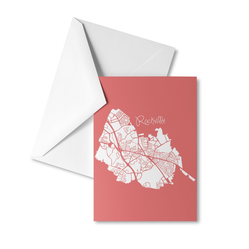 Rockville Map Accessories Greeting Card by @pike.and.rozay