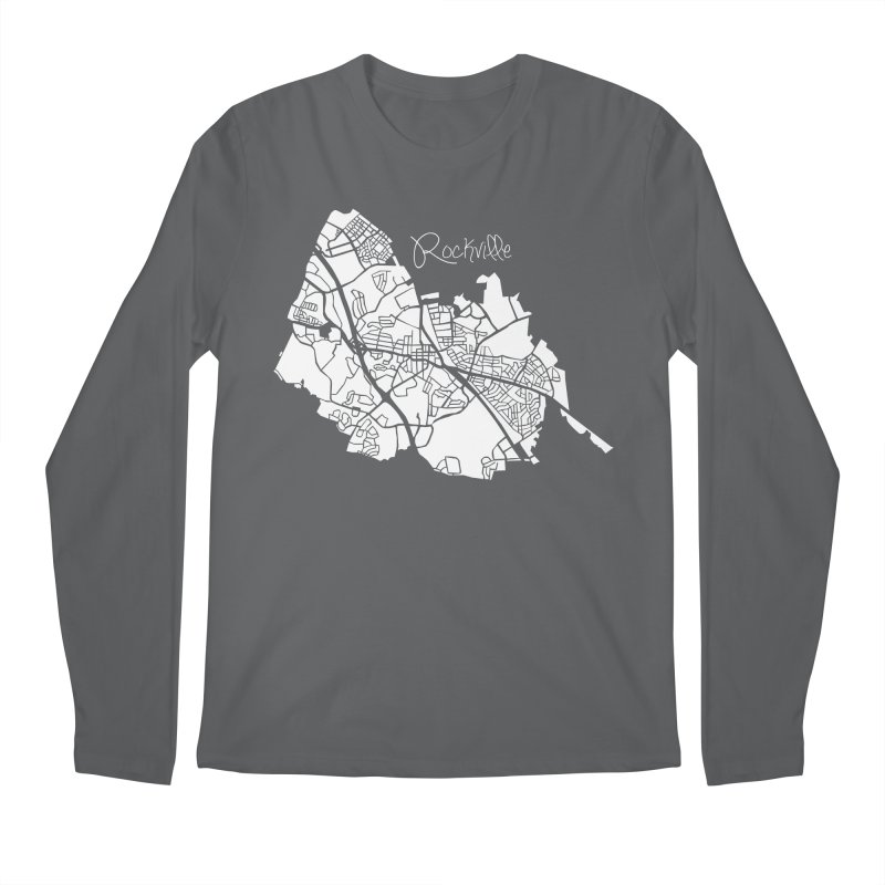 Rockville Map Men's Longsleeve T-Shirt by @pike.and.rozay