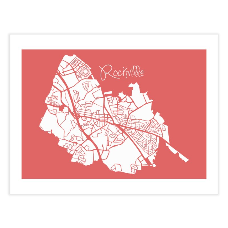 Rockville Map Home Fine Art Print by @pike.and.rozay
