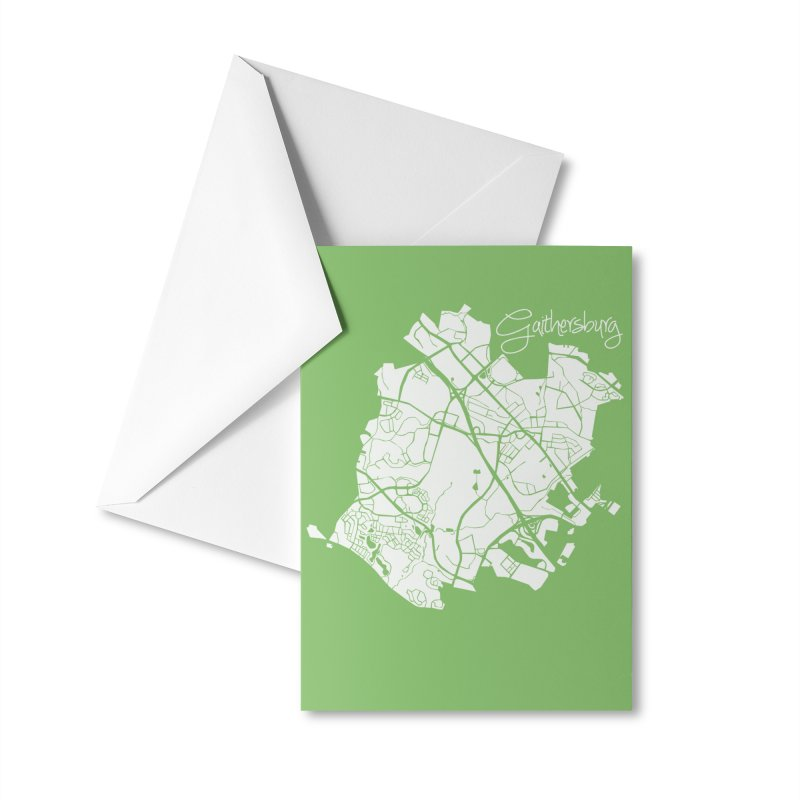 Gaithersburg Map Accessories Greeting Card by @pike.and.rozay