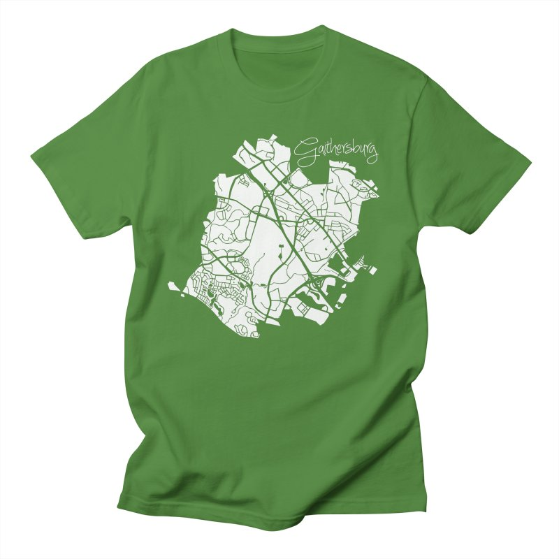 Gaithersburg Map Men's T-Shirt by @pike.and.rozay