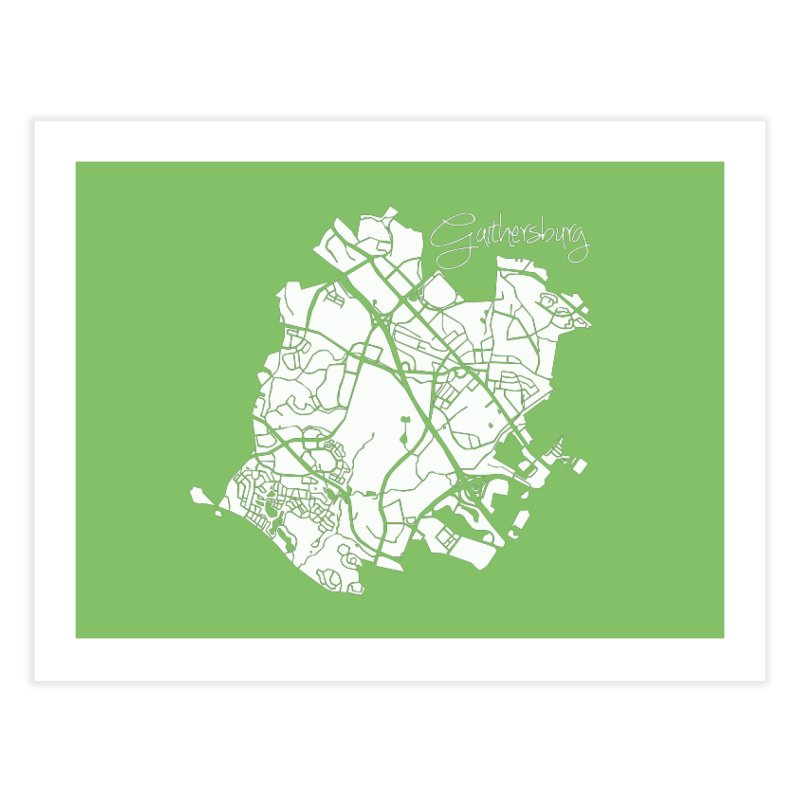 Gaithersburg Map Home Fine Art Print by @pike.and.rozay