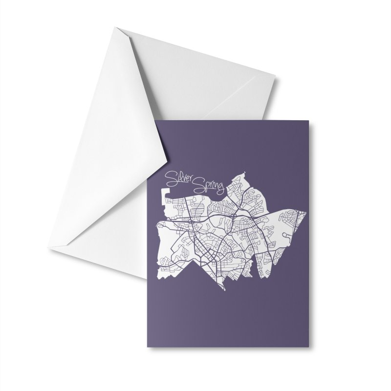Silver Spring Map Accessories Greeting Card by @pike.and.rozay